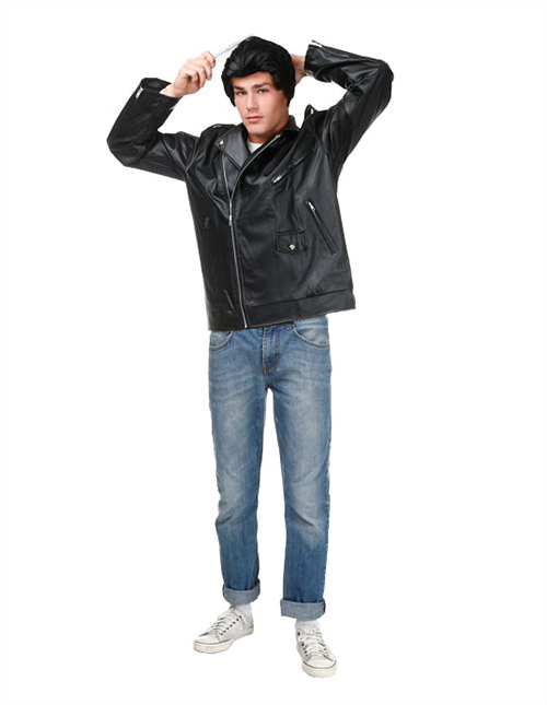 Danny Zuko Shaping Up for Sandy Pose
