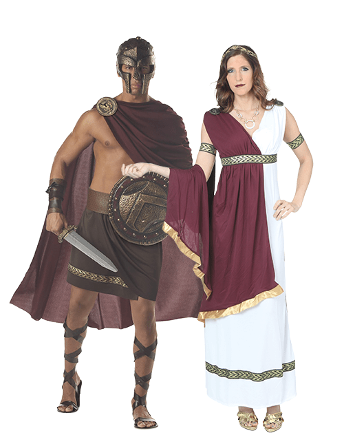 Greek Goddess and Spartan Warrior Couples Costumes