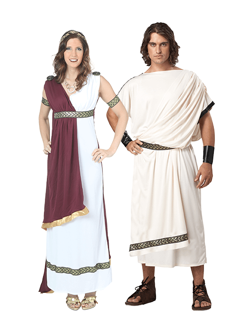 Greek Goddess and Toga Couples Costumes