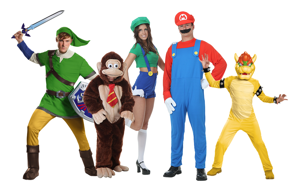 Nintendo Group Costumes  sc 1 st  Halloween Costumes & Group Halloween Costumes - HalloweenCostumes.com