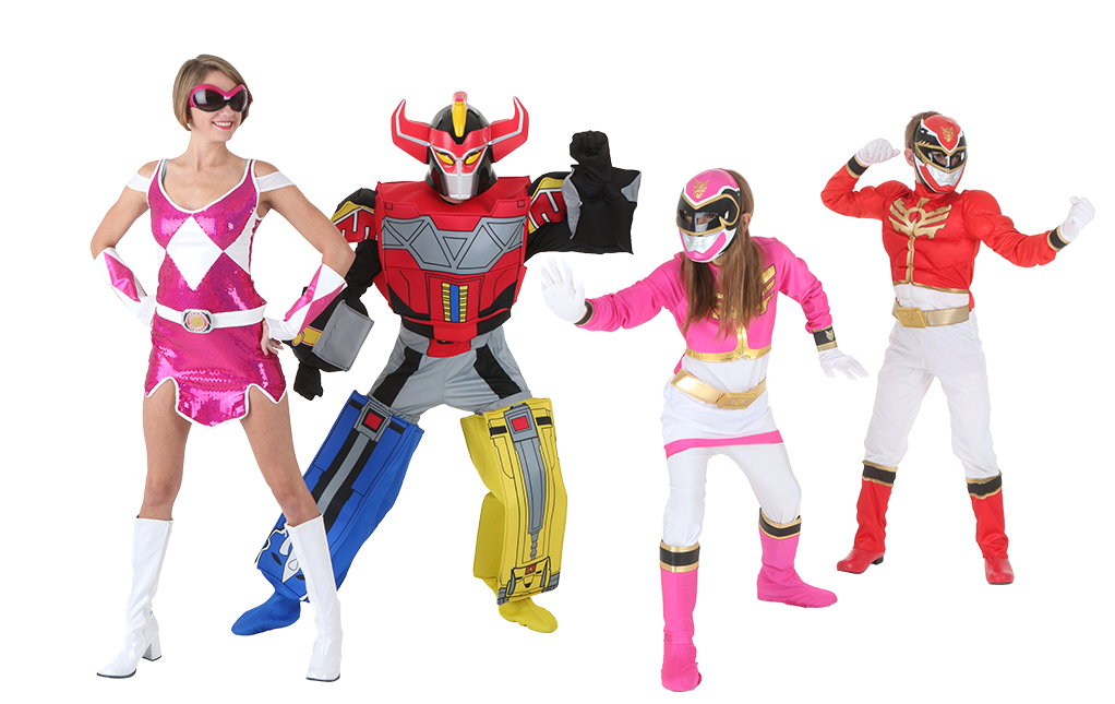 Disfraces del Grupo Power Rangers