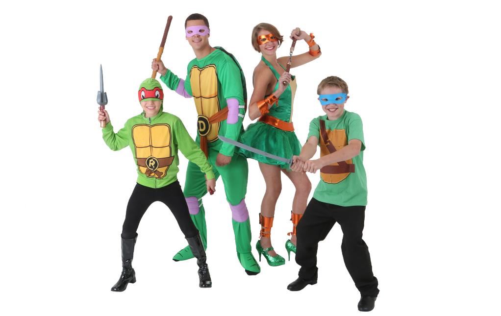 Disfraces Grupos de Tortugas Ninja Adolescentes