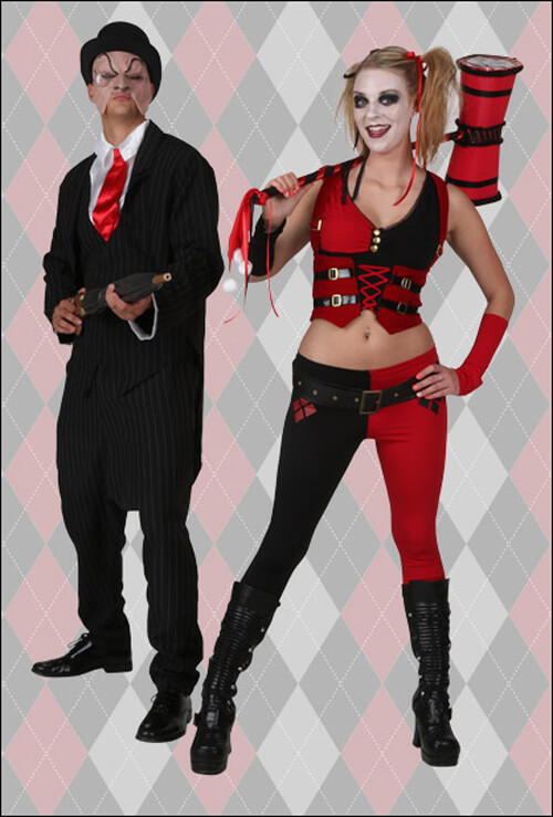 Harley Quinn and The Penguin Costumes