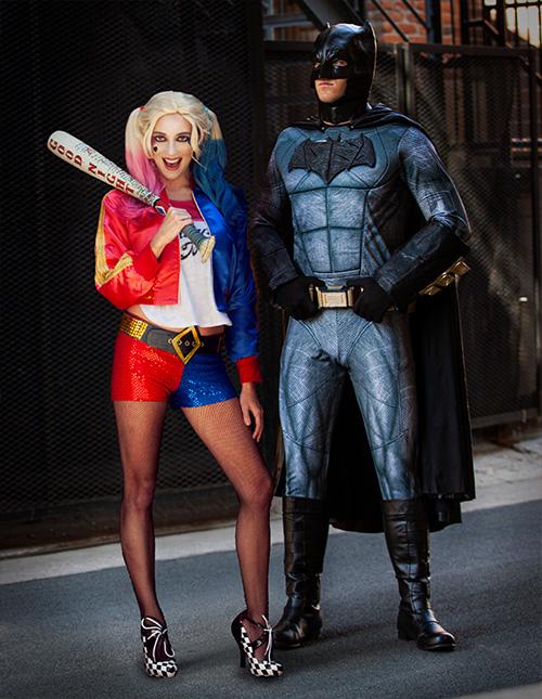 Harley Quinn and Batman Costumes