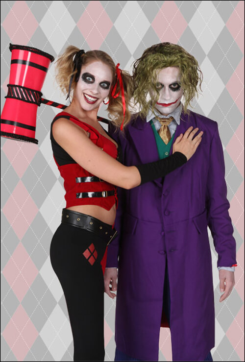Harley Quinn and The Joker Costume  sc 1 st  Halloween Costumes & Harley Quinn Costumes for Kids Woman