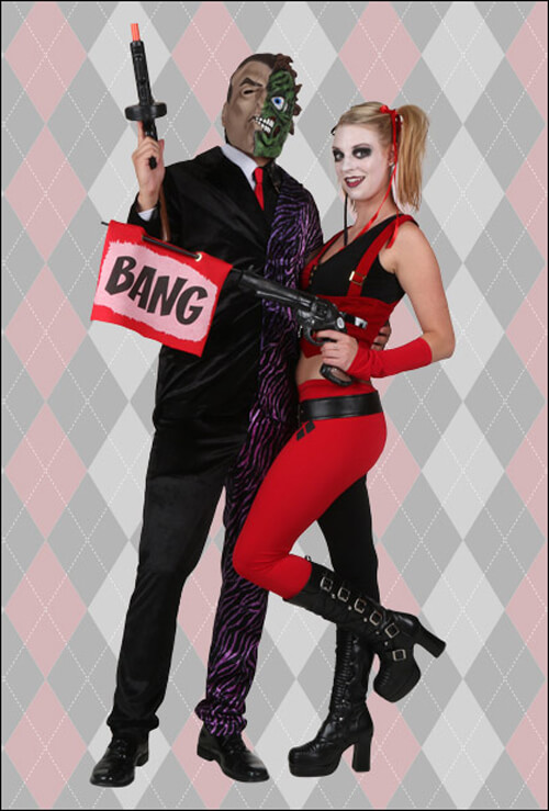 Harley Quinn and Two-Face Costumes