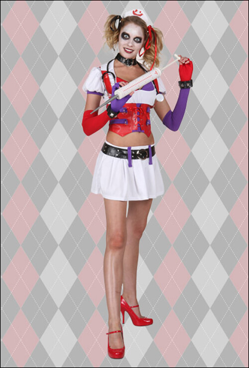 Harley Quinn Arkham Nurse Costume