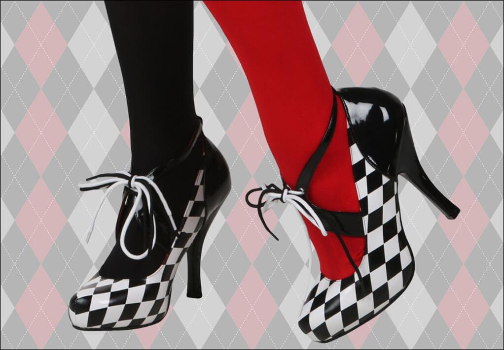 Harley Quinn Checkered Shoes