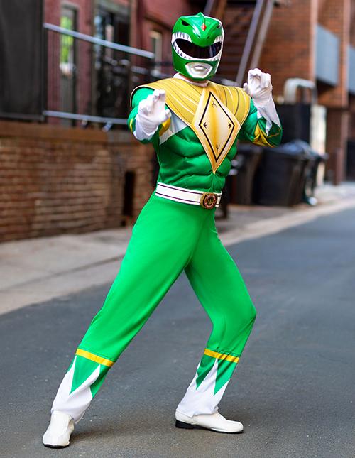 Green Power Rangers Costume