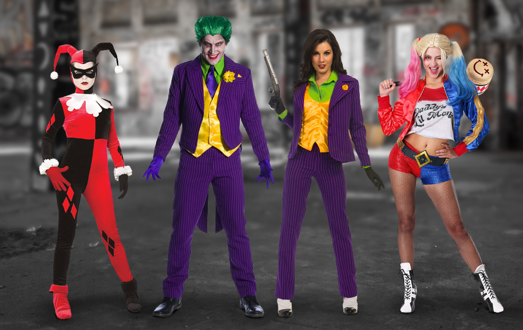 Harley Quinn and Joker Costumes