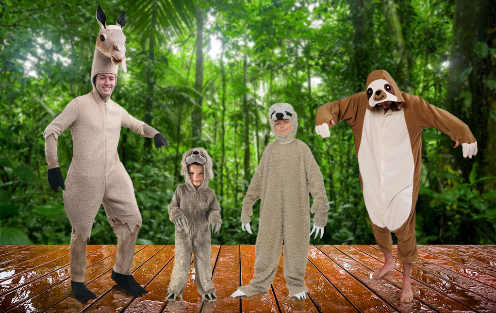 Llama and Sloth Costumes