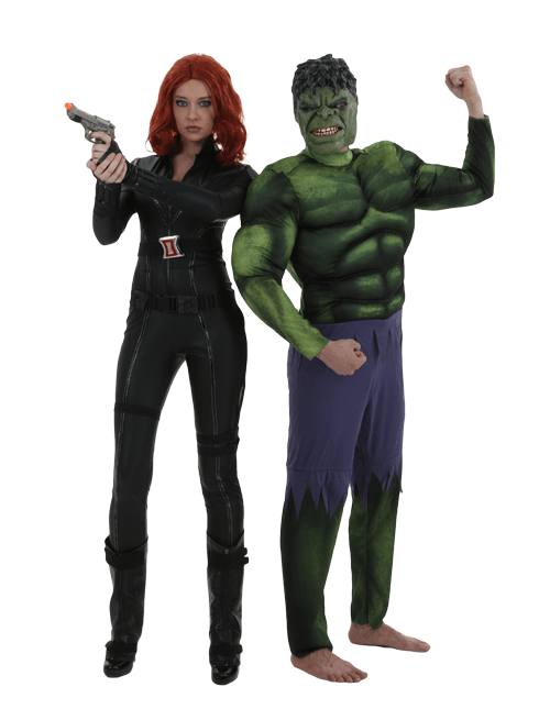 Hulk and Black Widow Couple Costumes