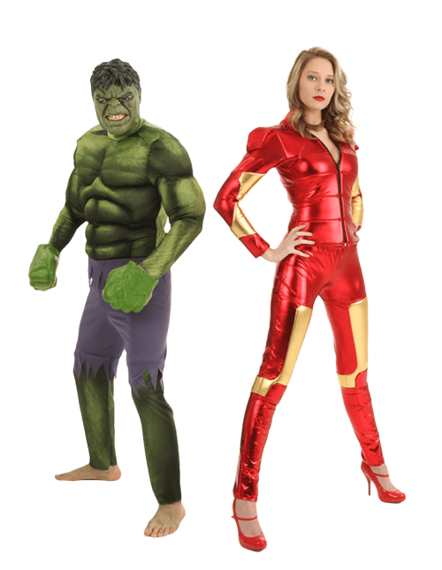 Hulk and Iron Man Couple Costumes