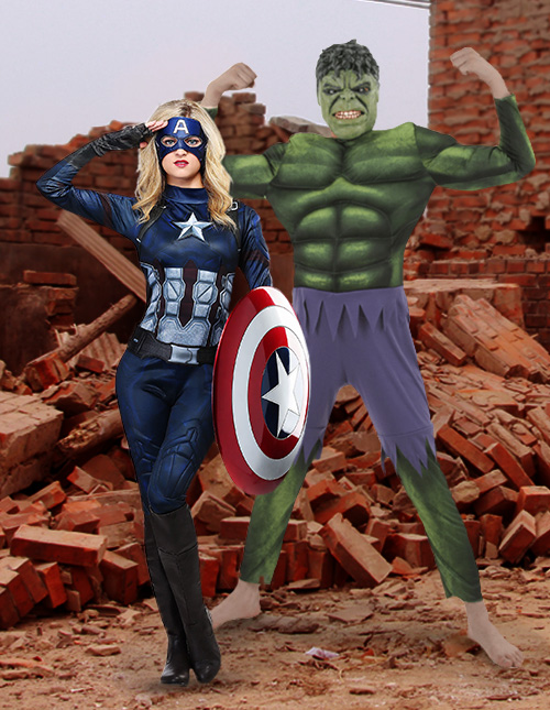 Hulk and Captain America