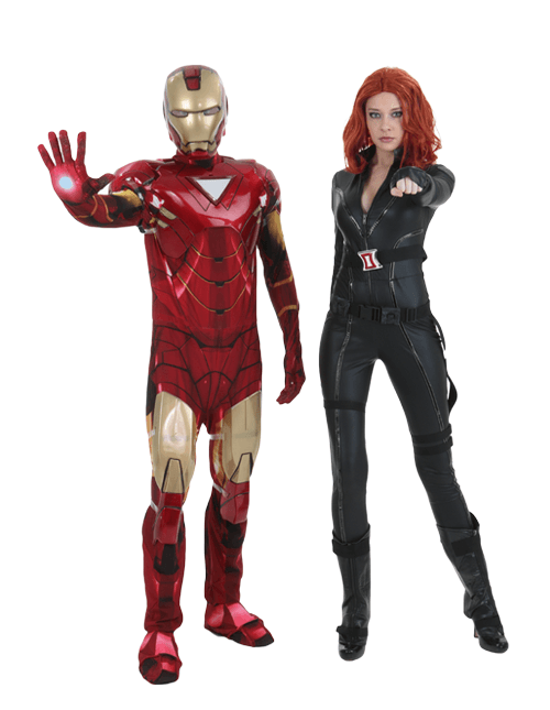 Iron Man and Black Widow Couple Costumes