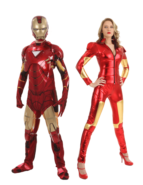 Iron Man and Pepper Potts Couple Costume