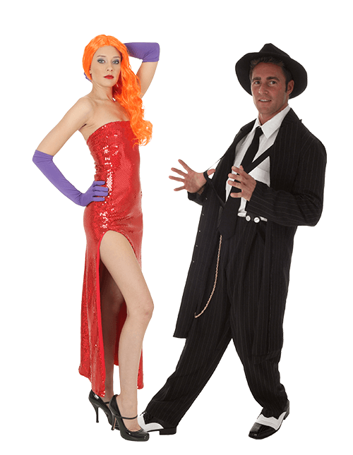 Jessica Rabbit and Eddie Couples Costumes