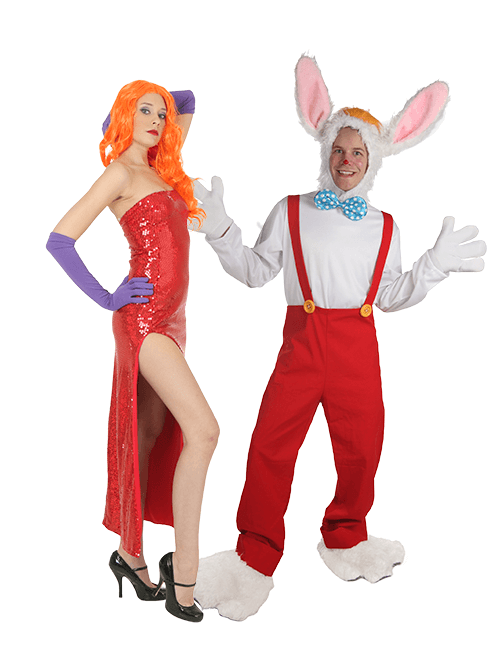 Jessica Rabbit and Roger Rabbit Couples Costumes