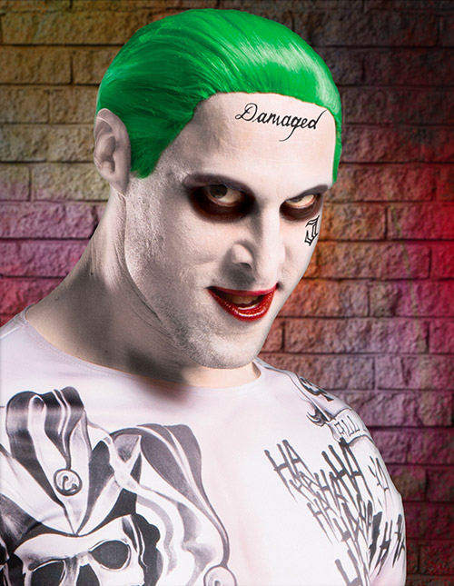 Suicide Squad Joker Temporary Tattoos