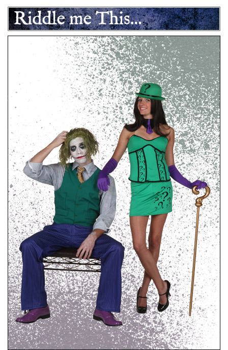 Joker and Womens Riddler Couple Costume Idea