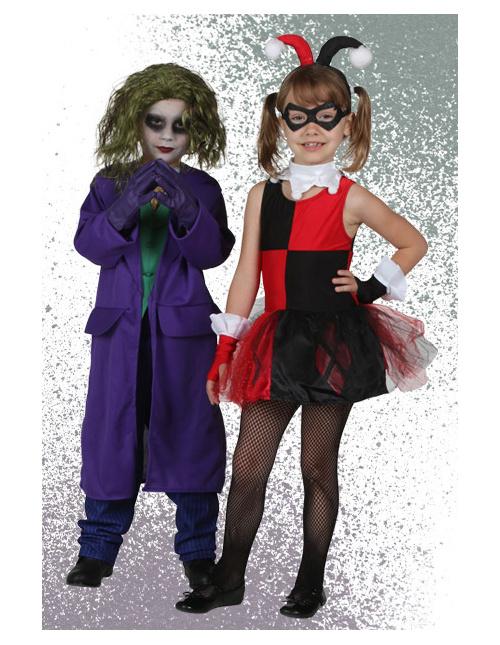 Kids Joker and Harley Quinn Costumes