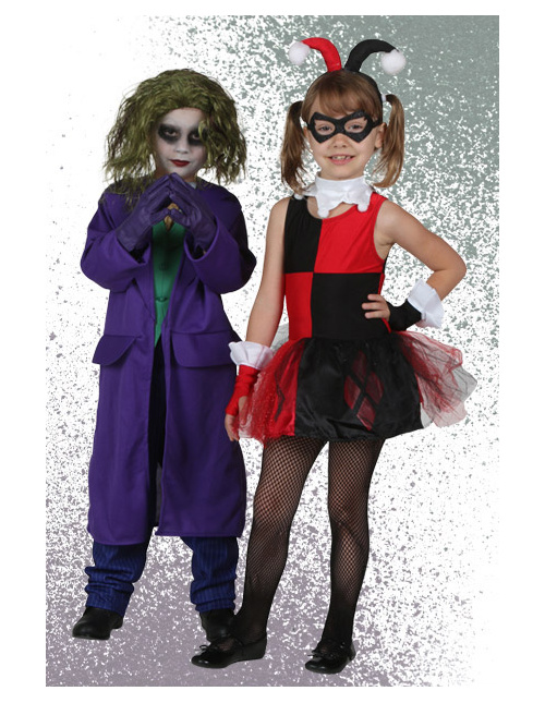 Halloween Joker And Harley Quinn Costumes.Joker Costumes Adult Kids Joker Halloween Costumes