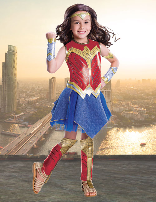 Justice League Girls' Wonder Woman Costume