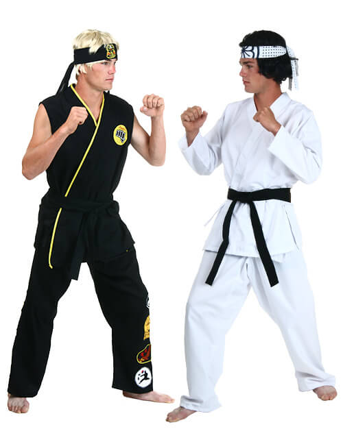 fight pose - The Karate Kid Halloween Fight