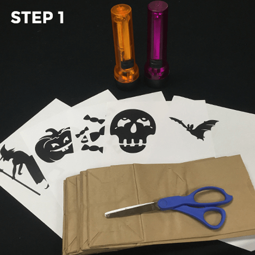 Flashlight Silhouettes - Step 1