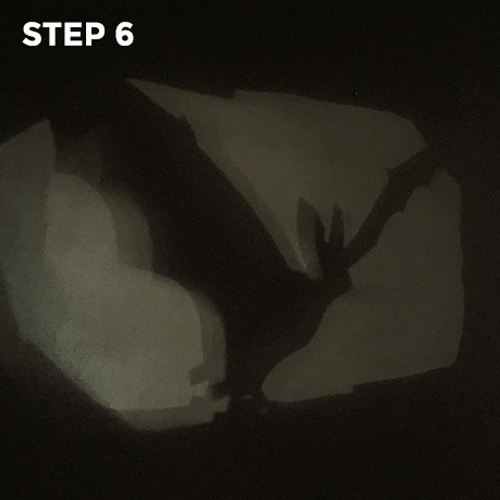Flashlight Silhouettes - Step 6