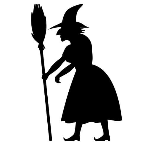 Witch Silhouette Printable