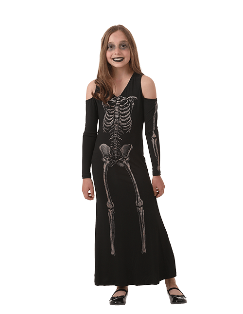 Skeleton Dress Kids Costume