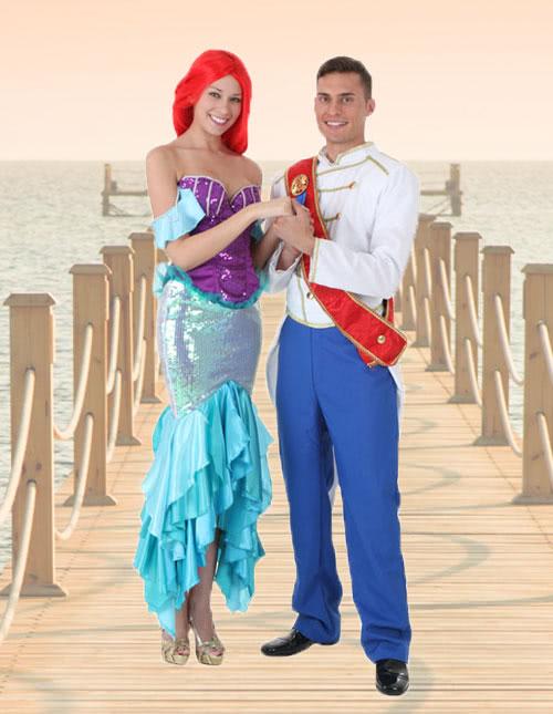 Ariel and Prince Eric Costume Idea