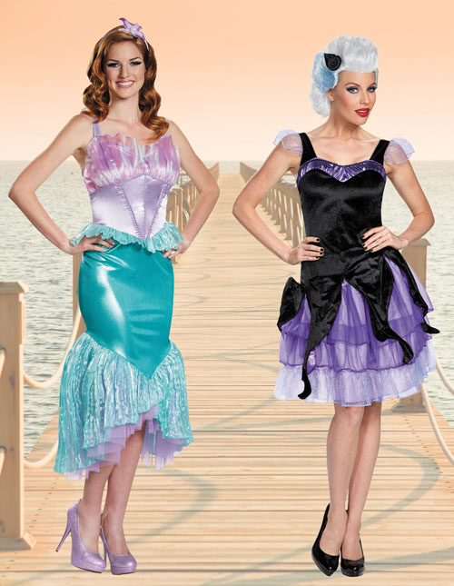 Little mermaid costumes ariel little mermaid costume ariel and ursula frenemy costume idea solutioingenieria Images