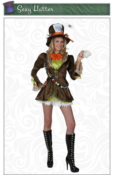 Womens Sexy Mad Hatter Costume