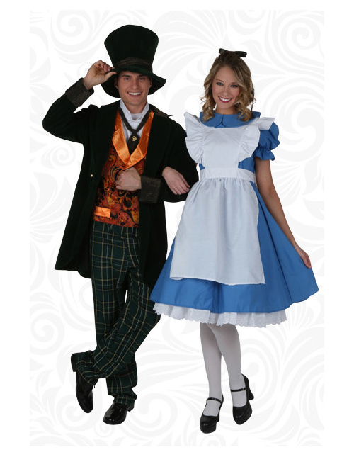 Couples Mad Hatter and Alice Costumes