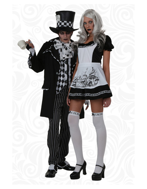 Mad Hatter and Alice Couples Costumes