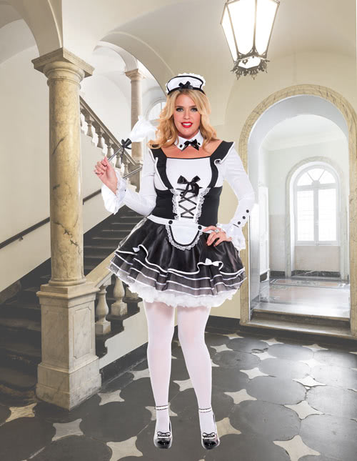 Plus Size French Maid Dress  sc 1 st  Halloween Costumes : black and white halloween costumes  - Germanpascual.Com