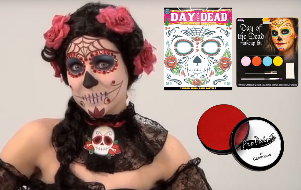 Makeup Halloween Makeup Costume Make Up Kits - Day-of-the-dead-makeup-tutorial-video