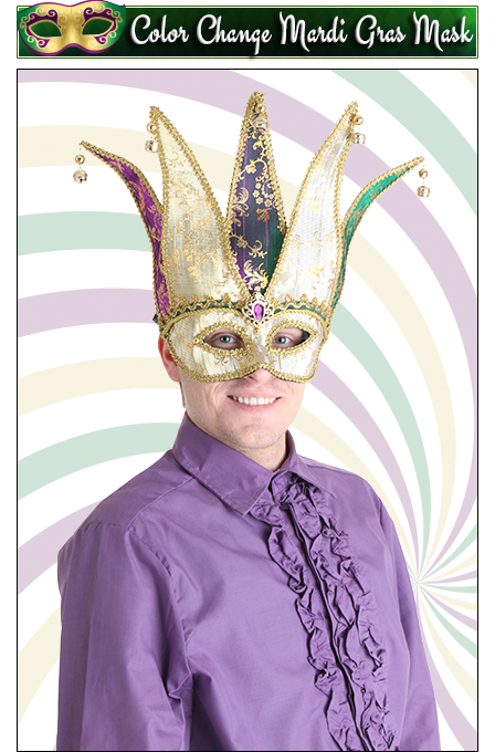 Color Change Mardi Gras Mask