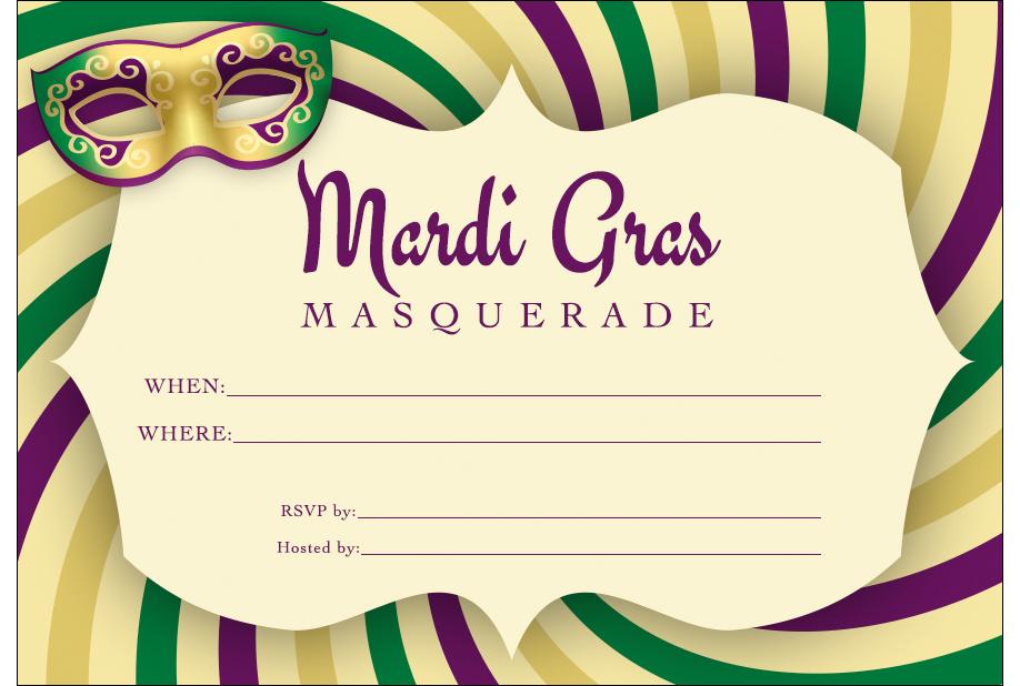 Click for Printable Mardi Gras Invitation