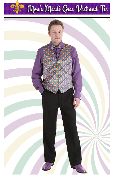 Men's Mardi Gras Vest and Tie