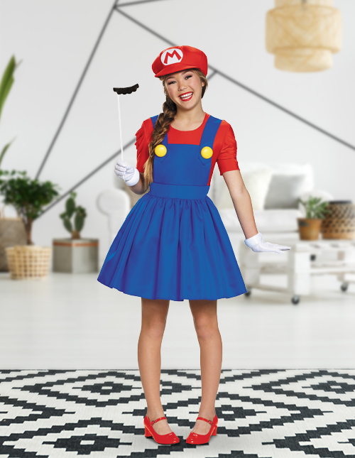 Girls' Mario Costume