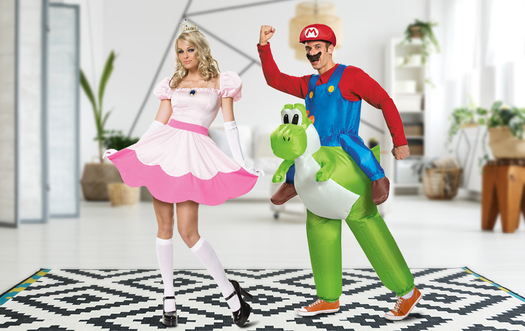 Mario and Princess Peach Costume