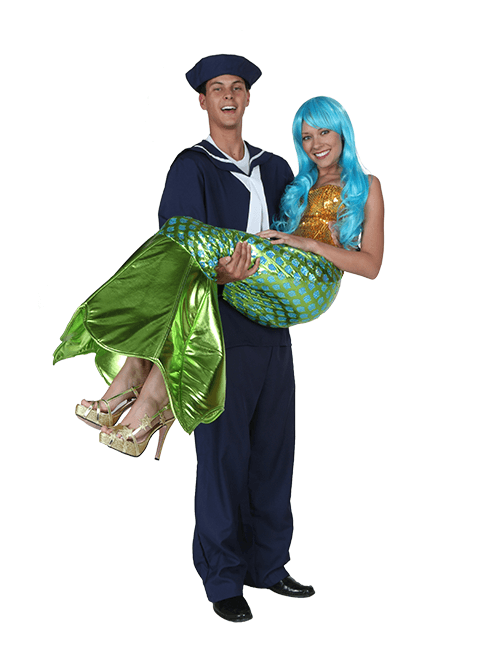 Mermaid and Sailor Couple Costumes