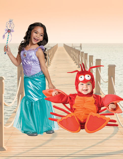 Ariel and Sebastian Costume Idea