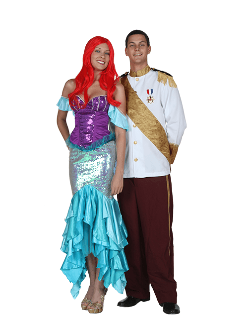 Ariel and Eric Couple Costumes