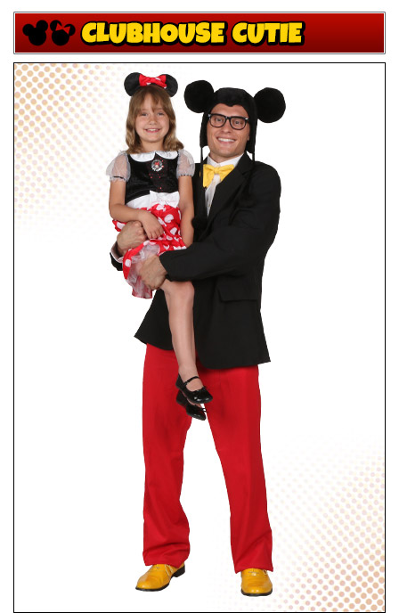 Mickey and Minnie Mouse Father Daughter Costume Idea