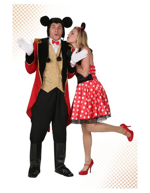 Mickey and Minnie Couple Costumes
