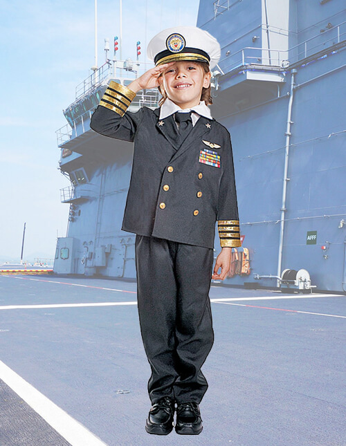 Military costumes adult kids army and navy halloween costume admiral uniform solutioingenieria Images